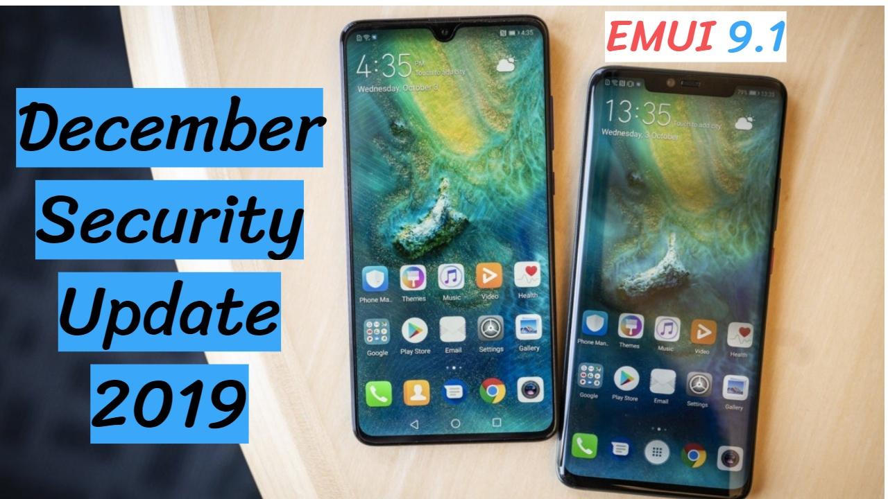 Emui 9.1 Huawei Mate 20 Pro