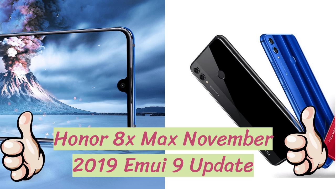Honor 8x Max Emui 9.1.0.160