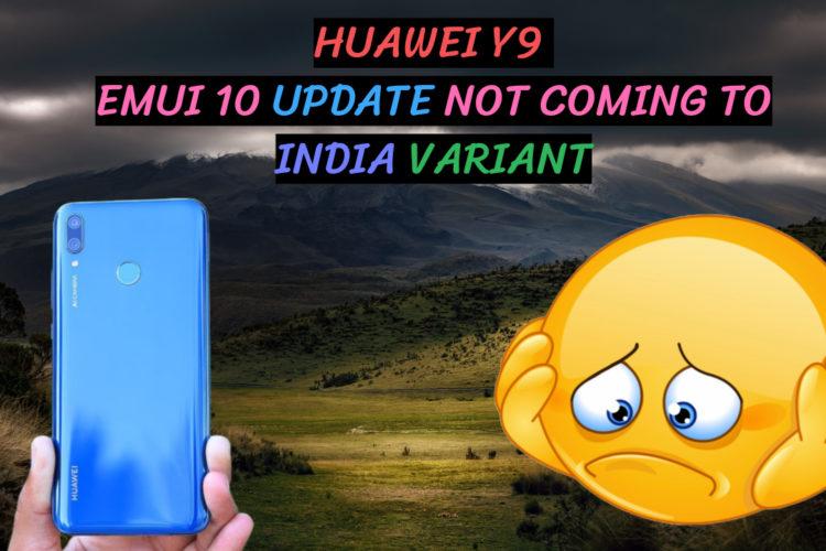 Huawei Y9 2019 Emui 10 Update