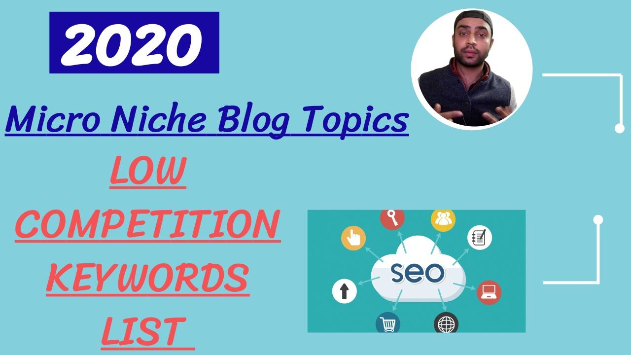 Micro Niche Blog Topics