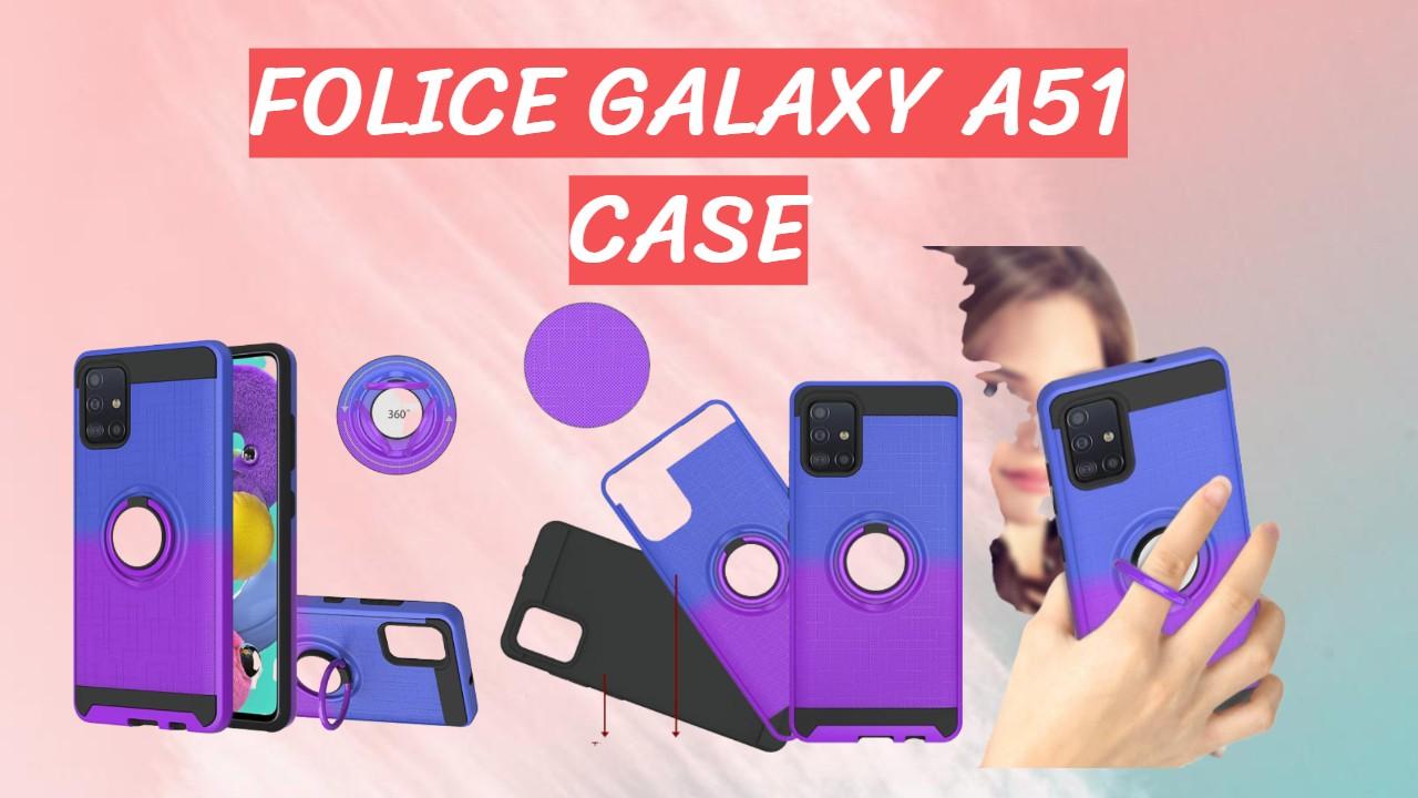 Folice Galaxy A51 Case | 360 Degree Rotating Ring Holder Kickstand Bracket Cover