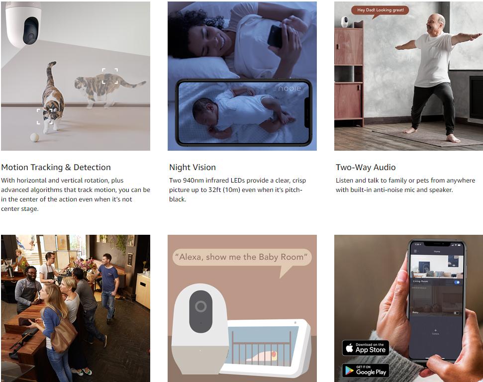 Nooie baby monitor reviews | Nooie pet camera baby monitor