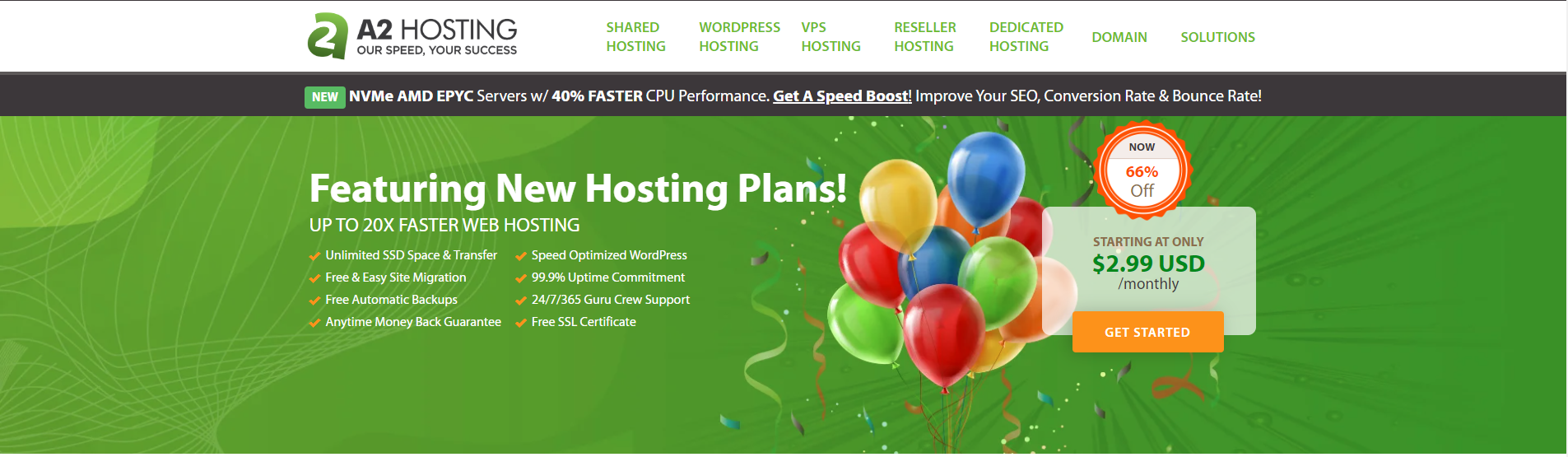 A2 Best Shared Hosting
